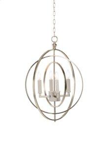 Round Chandelier-silver (sm)