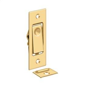 Pocket Door Bolts, Jamb bolt - PVD Polished Brass