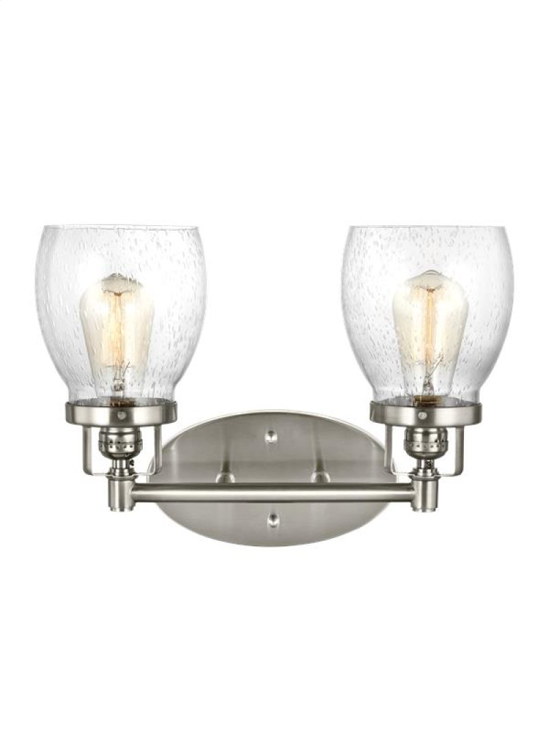 4414502962 In Brushed Nickel By Sea Gull Lighting Kearney Ne Wiring Diagram Two Light Pendant Wall Bath