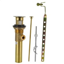 "Polished Brass PVD 1 1/4"" Metal Pop-Up Drain Assembly with Lift"
