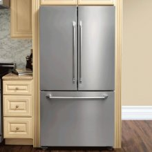 "Distinctive 36"" Counter-Depth Refrigerator, in Stainless Steel with Epicure Handle"