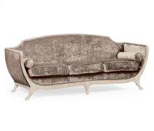 Empire Style Sofa (Limed Tulip Wood/Velvet Truffle)