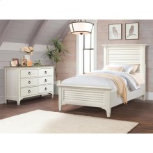 Myra - Twin Louver Headboard - Paperwhite Finish