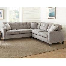 "Maddox Left Arm Corner Sofa w/2 Pillows, 103""x37""x39"""