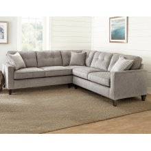 "Maddox Left Arm Corner Sofa w/2 Pillows, 103""x37""x39"""