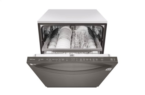 LG Black Stainless Steel Series Top Control Dishwasher with QuadWash and EasyRack Plus