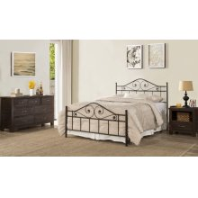 Harrison King Headboard With Rails - Textured Black