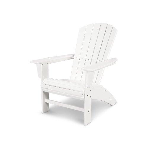 White Nautical Curveback Adirondack Chair