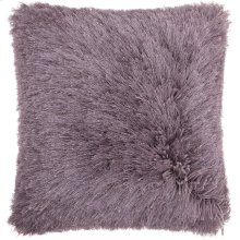 "Shag Tl004 Lavender 20"" X 20"" Throw Pillows"