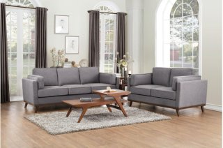 Bedos Love Seat Grey