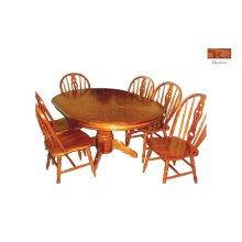 Oak Veneer Single Ped. Table
