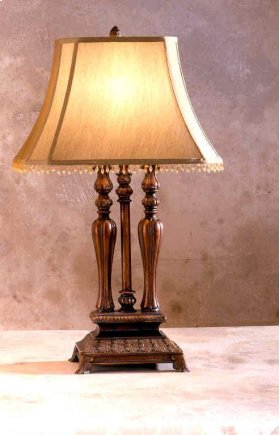 Fluted Turned Lamp