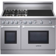 Professional Series 48 inch Dual-Fuel Standard-depth Range PRD484EEHU - Stainless Steel