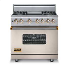 "36"" Custom Sealed Burner Self-Cleaning Range, Propane Gas, Brass Accent"