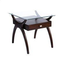 Hildegard Dark Cherry Stain Side Table