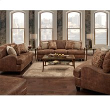 FRANKLIN 84840GS Indira Faux Leather Sofa, Loveseat, Chair & Ottoman Group Set
