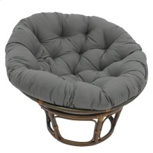Bali 42-inch Indoor Fabric Rattan Papasan Chair - Walnut/Steel Grey