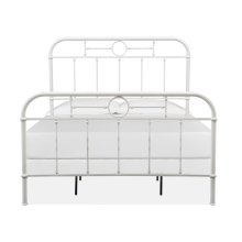 Complete Queen Metal Bed - White