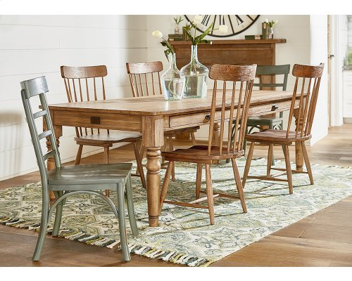 Bench 7 Ft. Taper Turned Dining Table