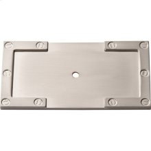 Campaign L-Bracket Backplate 3 11/16 Inch - Brushed Nickel