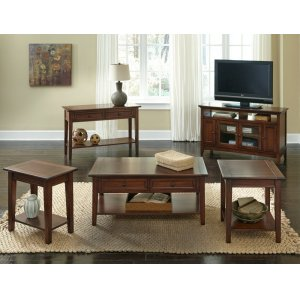 A AmericaEnd Table With Shelf
