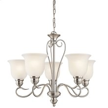 Tanglewood 5 Light Chandelier with LED Bulbs Brushed Nickel