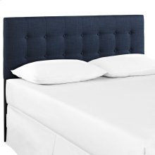 Emily King Upholstered Fabric Headboard in Navy