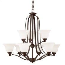 Langford 9 Light Chandelier with LED Bulbs Olde Bronze®