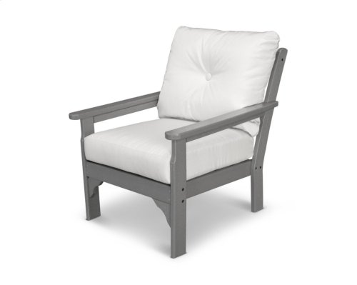 Slate Grey & Ginkgo Vineyard Deep Seating Chair