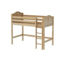 Mid Loft Bed (Med/Low) with Straight Ladder : Twin : Natural : Curved Sale