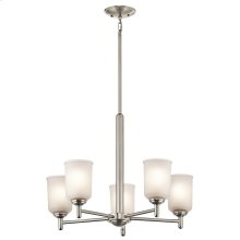 Shailene Collection Shailene 5 Light Chandelier - Brushed Nickel NI