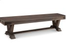 "Chattanooga 72"" Pedestal Bench in Fabric or Bonded Leather Product Image"