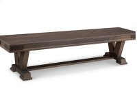 """Chattanooga 72"""" Pedestal Bench in Fabric or Bonded Leather Product Image"""