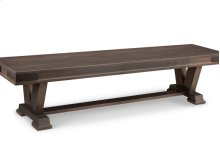 "Chattanooga 72"" Pedestal Bench in Fabric or Bonded Leather"