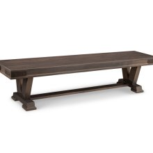 """Chattanooga 72"""" Pedestal Bench with Fabric Seat"""