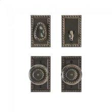 "Corbel Rectangular Entry Set - 2 1/2"" x 4 1/2"" Silicon Bronze Brushed"