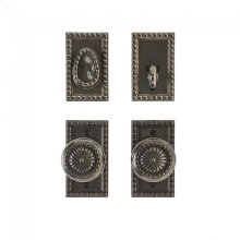 "Corbel Rectangular Entry Set - 2 1/2"" x 4 1/2"" Silicon Bronze Brushed"