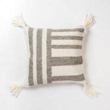 Miranda Pillow - Grey and Ivory