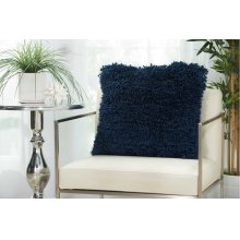 "Shag Tl003 Navy 20"" X 20"" Throw Pillows"