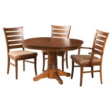 "42/48-2-12"" Leaf Square Round Jumbo Pedestal Table"