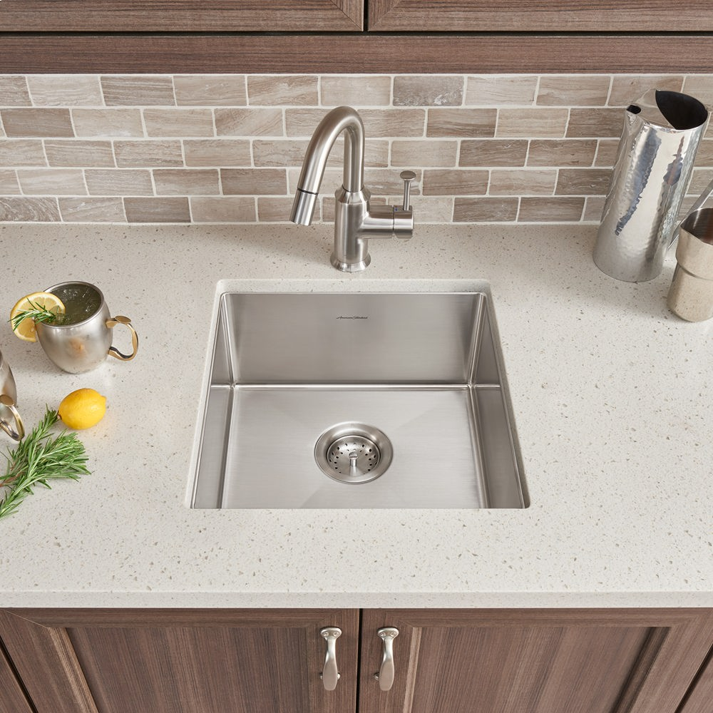 pekoe 17x17 stainless steel kitchen sink american standard   stainless steel 18sb8171700075 in stainless steel by american standard in west      rh   whitesplumbing com