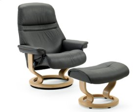 Stressless Sunrise Small Recliner and Ottoman