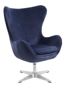 Swivel Chair-blue#belvedere Bk-14-azure W/chrome Pedestal Base
