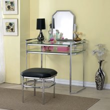 Colleen Vanity W/ Stool, Chrome