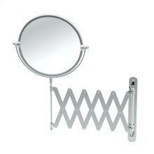 Accordion Mirror in Chrome