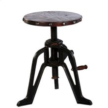 """Barstool : 18"""" x 18"""" Extends to 24"""" Adjustable Pub Table and Barstool w/Iron Base"""