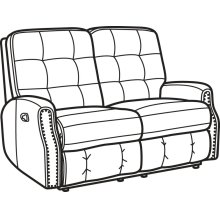 Devon Leather Reclining Loveseat with Nailhead Trim
