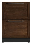 24 3/16 Under-counter Double Drawer Refrigerator Custom Panel Ready T24UR800DP Product Image