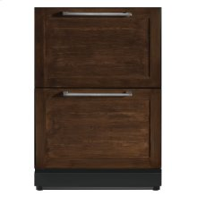 24 3/16 Under-counter Double Drawer Refrigerator Custom Panel Ready T24UR800DP