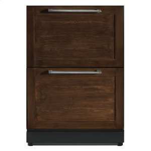 Thermador24 3/16 Under-counter Double Drawer Refrigerator Custom Panel Ready T24UR800DP
